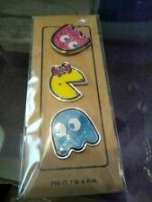 Coach F73502 Pac-man Ghosts Glitter Enamel Set of 3 Pins for Tote Bag Hat