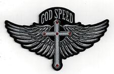 GOD SPEED WING HAT VEST PATCH MEMORIAL CHRISTIAN JESUS CROSS PILOT CREW QUILT