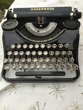 UNDERWOOD Portable Typewriter Model excellent condition w/black glossy finish