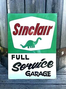 Vintage Style SINCLAIR Dino DINOSAUR Gas Station Oil Painted Full Service SIGN