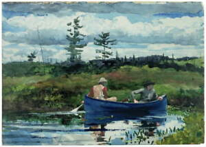 Winslow Homer The Blue Boat Poster Reproduction Paintings Giclee Canvas Print