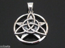 The DRUID AMULET TRIQUETRA & PENTAGRAM exquisitly designed in  STERLING SILVER
