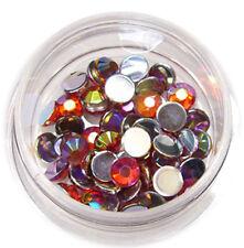 Strasssteine Strass rund 4mm 50 Stk. Stone UV Gel Acryl Nail Orange  #00567-03