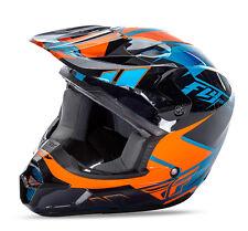 Fly Racing Kinetic Impulse MX BMX helmet blue orange black adult medium 73-3366M