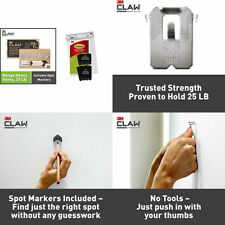 3M Claw Drywall Picture Hangers Holds 25 lb. Medium & Large & CLAW, Black