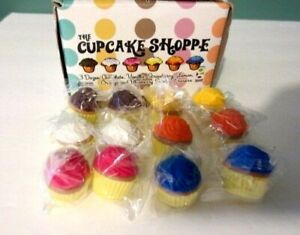 NEW Set of 12 Individually Wrapped SCENTED CUPCAKE ERASERS by Cupcake Shoppe