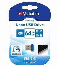64GB Verbatim USB 3.0 Flash Drive Memory stick 64 GIG 64 GB