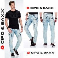 CIPO & BAXX Herren Jeans CD435 NEU Hose Slim Fit Enges Bein Denim