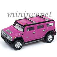 JOHNNY LIGHTNING JLCP7210 OFF ROAD HUMMER H2 1/64 DIECAST MODEL CAR PINK