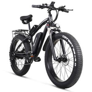1000W Electric Bike 48V Folding Snow Ebike 4.0 Fat Tire Electric Mountain Bike