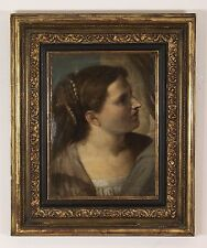 Attributed to Nicholas Poussin French Oil Painting Portrait  17 Century