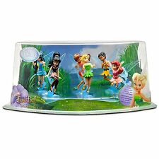 Disney TINKER BELL FAIRIES 6 Piece Party Cake Toppers Figure Play Set NEW!