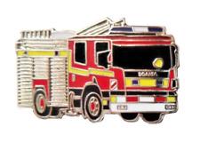 Scania Dual-Purpose Ladder DPL Fire Engine Appliance Pin Badge