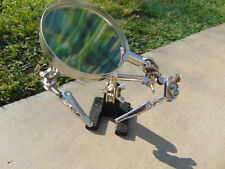 Helping Hand Magnifier 2.5x with 2 Alligator Clamps Soldering Kit Hand Jewelry