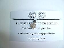 Saint Benedicts medalla Hecho a Mano Pulsera Regalo único de protección Exorcista deseo