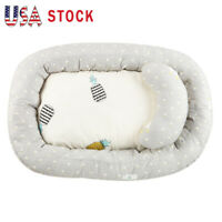 Cotton Baby Bassinet Portable Lounger Bed Newborn Crib Sleep Nest With Pillow