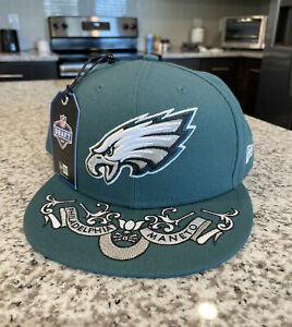 Philadelphia Eagles New Era 2019 NFL Draft 59FIFTY Green Fitted Hat Cap Size 8