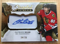 Patrick Kane 2016-17 UD The Cup 2 Color Scripted  Swatches Patch Auto /35