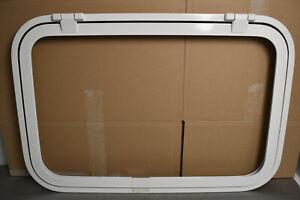 Klappenrahmen, Serviceklappe, weiß ca. 700 x 460 mm für Wohnmobil, Caravan