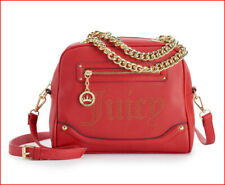 Juicy Couture Designer Crossbody LOGO SATCHEL - Faux Leather Purse - RED ❤️NEW❤️