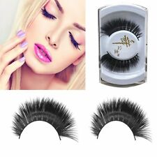 Long Thick Eye Lash Extension Fake False Eyelashes Makeup Tool 100% Real Mink