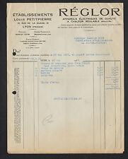 """LYON (69) APPAREILS de CHAUFFAGES, DOMESTIQUES """"REGLOR / Louis PETITPIERRE"""" 1936"""