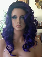 * FREE SHIPPING Classic Cap Quality Synthetic Wig - Purple Haze Ombre Wavy Hair