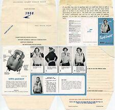 FLIGHT BOAC 1960 AIRCRAFT SAFETY LEAFLET + PASSENGER RELATIONS FORM