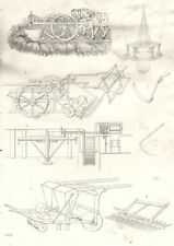 FARMING. Agricultural Implements 1880 old antique vintage print picture