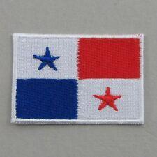 Panama Flag Small Iron On/ Sew Cloth Patch Badge Appliqué Bandera Panamá Panaman