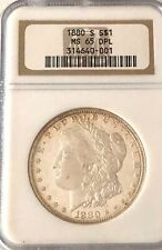 Sale- Ngc-1880-S Ms-65 Dmpl U.S. Morgan Silver Dollar- See Other Morgans