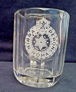 BIRRA PERONI ROMA Raro Boccale Bicchiere Vintage Anni 50 Vetro Fuso 20cl
