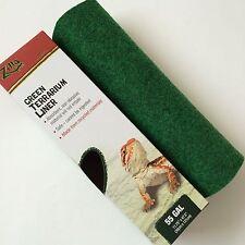 """Zilla 55 Gallon Green Terrarium Liner Cage Carpet Mat 12"""" x 48 """""""