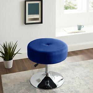 Height Adjustable Round Vanity Stool Modern Velvet Seat Swivel Dressing Chair US