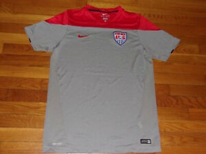 NIKE DRI-FIT US SOCCER JERSEY MENS LARGE EXCELLENT CONDITION