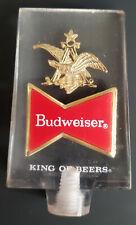 Budweiser Beer Tap Handle Acrylic 1970s Anheuser Busch Emblem