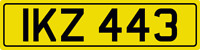 DATELESS PRIVATE NUMBER PLATE IKZ 443 CHERISHED REG COVER NON DATING IAN IAIN IK