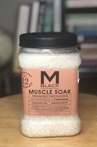 M. Black For Men Sore Muscle Soak 42 oz Eucalyptus And Cedarwood Bath Salt