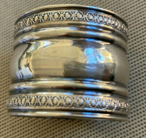 Sterling Silver Napkin Ring Antique Hearts Signed W 13 Hearts Embossed HELP ??