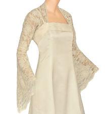 Ivory Lace Long Bell Sleeve Bolero Size 18