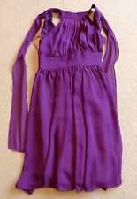 BRAND NEW WOMEN'S PURPLE HALTER NECK DRESS - SIZE 6 - FOR PARTY FORMAL COCKTAIL