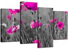 Grandi fiori Rosa Floreale Nero Bianco A MURO ARTE FOTO 4137