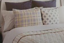 2 pc Tommy Hilfiger Awning Stripe Taupe Twin Quilt and Sham Set Nip