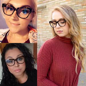 Blue Light Blocking Glasses for Women Thick Oversized Blue Blocker for Computer