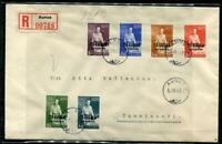 Karelia/Finland/Russia 1942 Registered Cover WWII Aunus-Ekenas Overprint f498s