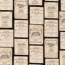 Robert Kaufman Vineyard Wine Antique Labels 100% cotton Fabric by the yard