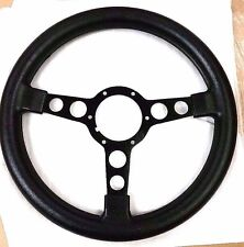 1970 - 1981 TRANS AM FORMULA STEERING WHEEL NEW BLACK WITH BLACK SPOKES FIREBIRD