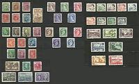 Canadá, 1942/1972, lote de 49 sellos usados