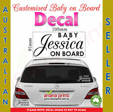Custom Name Baby on Board Sign Decal NEW Vinyl Cut