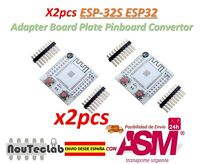 2pcs ESP-32S ESP32 Wireless Bluetooth Adapter Board Plate Pinboard Convertor